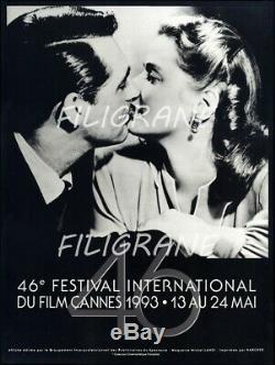 FESTIVAL de CANNES 1993 BELLE AFFICHE ORIGINALE 60x80cm Etat Neuf
