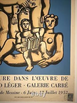Fernand Léger Original lithograph poster 1952 Affiche originale