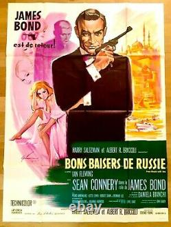 From Russia with Love Original French poster Affiche de cinéma James Bond R70