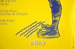 GRANDE PARADE DU JAZZ NICE 77, Affiche originale 1970's Vintage Music Poster