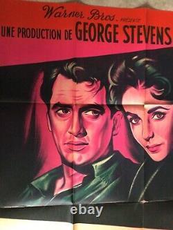 Géant Affiche Cinéma 1956 Original Movie Poster James Dean