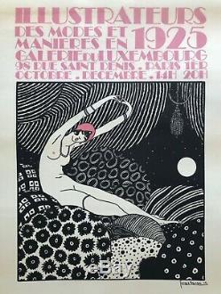 Georges Lepape Affiche Lithographie Illustrateurs Modes 1925 Original Poster