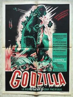 Godzilla (Affiche cinéma EO 1954) Gojira Kaiju Original French Movie Poster