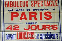 Grande Affiche ancienne originale cirque Pinder, vintage CIRCUS POSTER