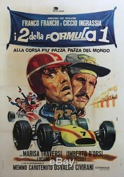 I 2 DELLA FORMULA 1 Affiche italienne originale entoilée (Osvaldo CIVIRANI)