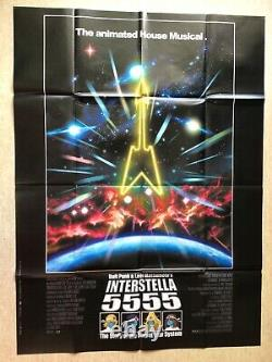 Interstella 5555 Affiche Cinéma 2003 Original Movie Poster Daft Punk Matsumoto