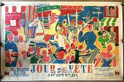 JOUR DE FÊTE Original French Double Grande Poster / Affiche TATI. VERY RARE