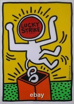 Keith Haring Lucky Strike 1987 affiche poster