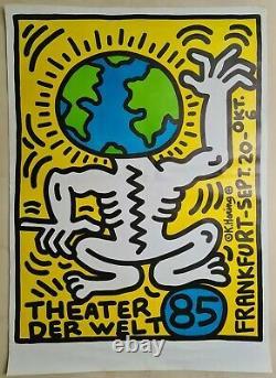 Keith Haring Theater Der Welt Affiche Originale 1985 Pop Art Vintage Poster