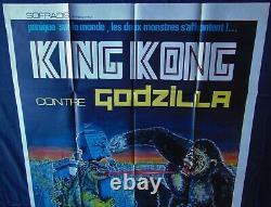 King Kong Contre Godzilla Affiche ORIGINALE 120x160cm Poster 47 63 1962