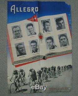 L'equipe Team Allegro Tour De Suisse 1951 Cyclisme Affiche Poster Original
