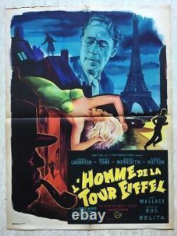 L'homme de la Tour Eiffel (Affiche cinéma EO 1949) Original French Movie Poster