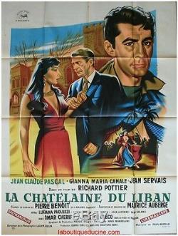 LA CHATELAINE DU LIBAN Affiche Cinéma ORIGINALE / Movie Poster OMAR SHARIF GRECO