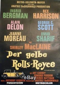 LA ROLLS-ROYCE JAUNE (THE YELLOW ROLLS-ROYCE) Affiche originale entoilée 64x88cm