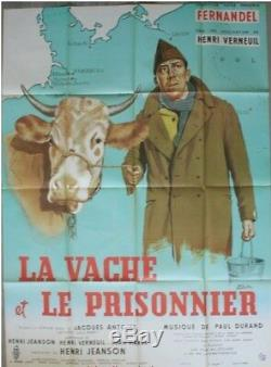 LA VACHE ET LE PRISONNIER Affiche Cinéma ORIGINALE Movie Poster FERNANDEL