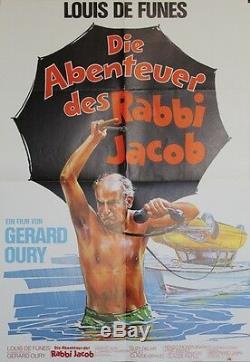 LES AVENTURES DE RABBI JACOB Affiche originale (Gérard OURY / Louis DE FUNES)