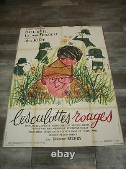 LES CULOTTES ROUGES Bourvil 1962 Affiche Originale 120x160 Vintage Movie Poster