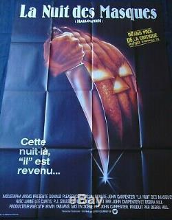La Nuit Masques Halloween Affiche ORIGINALE 120x160cm POSTER One Sheet 47 63