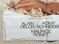 La piscine Affiche originale cinéma EO 1968 Delon Schneider Movie Poster