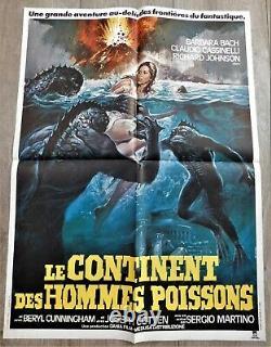 Le Continent des Hommes Poissons Affiche ORIGINALE Poster 60x80cm 23x32 1979