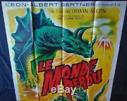 Le Monde Perdu Affiche ORIGINALE 120x160cm POSTER One Sheet 47 63