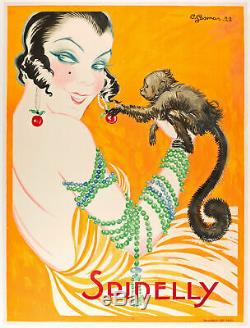 Le carnaval des animaux dans l'affiche ouistiti, Gesmar. Original poster