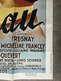 Le corbeau Affiche Cinéma Ress'80 Original Movie Poster Pierre Fresnay