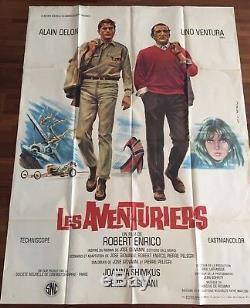 Les Aventuriers / 1967 Original / Alain Delon / Affiche / Cinéma / Poster