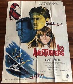 Les Aventuriers / Alain Delon / 1967 Original / Affiche / Cinéma / Poster