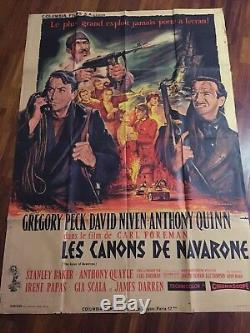 Les Canons De Navarone / Poster / Affiche / Cinema / Original 120x160