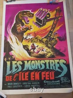 Les Monstres l'Ile en Feu Affiche ORIGINALE entoilée 120x160cm POSTER 47 63