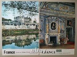 Les chateaux de la Loire Lot de 16 affiches anciennes/original travel posters