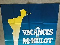 Les vacances de M. Hulot Affiche Cinéma 1953 Original Movie Poster Tati