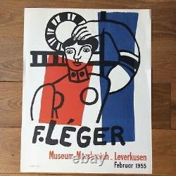 Lithographie Affiche F. LERGER Museum Morsbroich original lithograph poster 1955