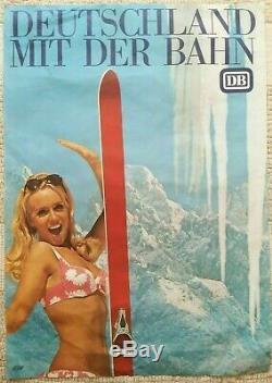 Lot de 10 affiches anciennes/original posters tourisme ski/sports d'hiver/winter