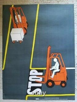 Lot de 10 affiches anciennes prévention/original posters Chadebec Vuillamy 1970