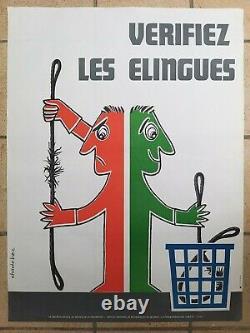 Lot de 15 affiches anciennes prévention/original posters Chadebec Metzger 1970