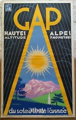 Lot de 7 affiches anciennes/original travel posters litho PLM Revard 1930-1960