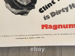 MAGNUM FORCE 1973 CLINT EASTWOOD AFFICHE POSTER ORIGINAL ENTOILE Spécial Poster