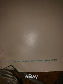 MICKEY MOUSE POSTER AFFICHE ORIGINALE 1975 VINTAGE Rare Walt Disney Production