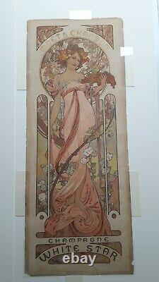 MUCHA MOËT & CHANDON 1899 original poster affiche ancienne