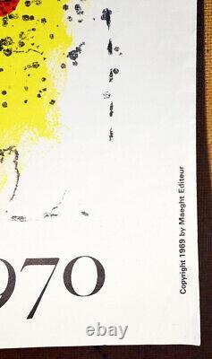 Marc CHAGALL, LE FOND JAUNE Affiche litho originale 1969 Original Art poster