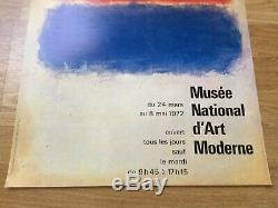 Mark ROTHKO Original Exhibition Poster Affiche Musée d'art moderne 1972