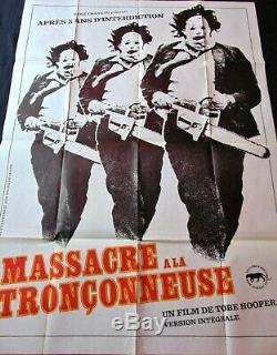 Massacre à la Tronçonneuse Affiche ORIGINALE 120x160cm POSTER One Sheet 47 63