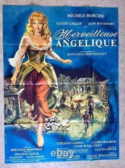 Merveilleuse Angélique Affiche Cinéma 1964 Michèle Mercier Original Movie Poster
