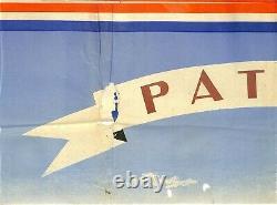 Militaria / Affiche Originale Poster Patrie Marechal Illustrateur Villemot