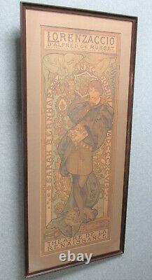 Mucha Affiche originale Lorenzaccio Sarah Bernhardt original vintage poster
