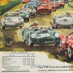 ORIGINAL Nürburgring ADAC 1000 km POSTER / AFFICHE Ferrari Aston Martin 1961 TOP