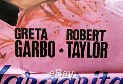 Original Affiche Poster Dame aux Camélias le Plus de Succès Film Greta Garbo