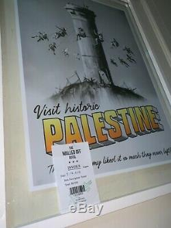Original Banksy Walled Off PALESTINE affiche Poster Print with COA Hotel receipt